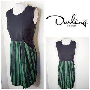 DARLING LONDON Emerald Green Striped Dress